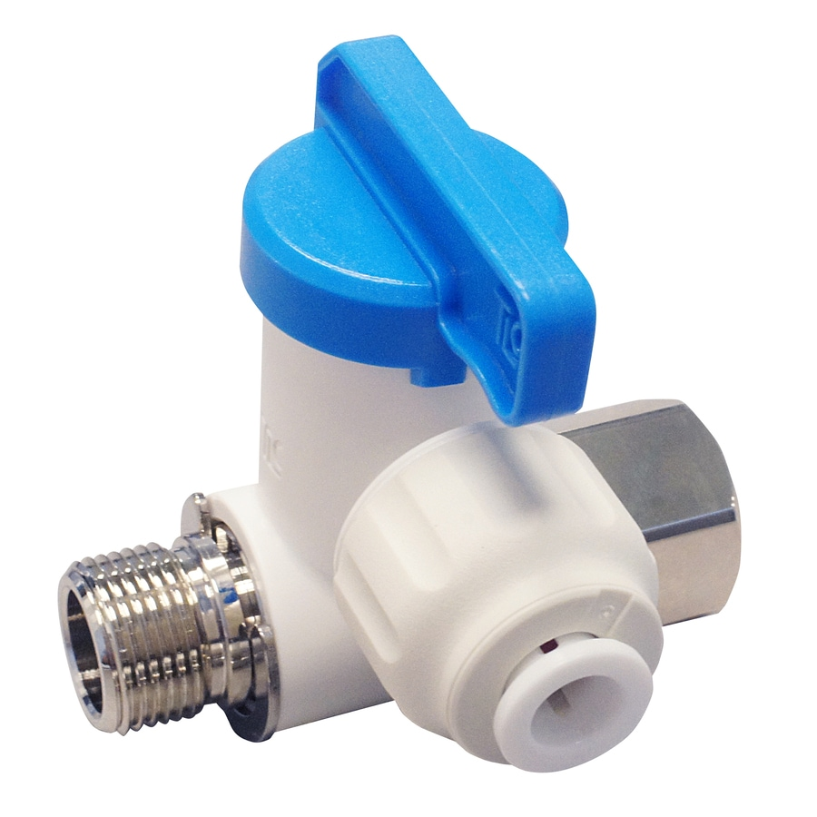 Apollo 1/4-in Compression Inlet x 1/4-in Compression Outlet Stainless Steel Ice Maker Connector