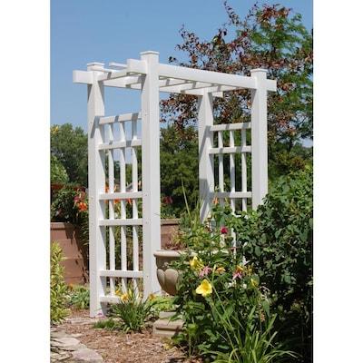 Duratrel 6 Ft W X 7 1 Ft H White Garden Arbor At Lowes Com