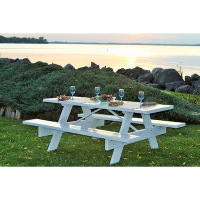 Pleasing 72 In White Rectangle Picnic Table Beatyapartments Chair Design Images Beatyapartmentscom