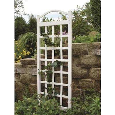 Dura Trel 28 In W X 76 In H White Traditional Garden Trellis At