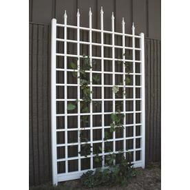 DuraTrel 57 In W X 96 In H White Traditional Garden Trellis