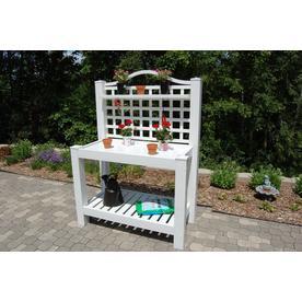 Dura Trel White Pvc Potting Bench