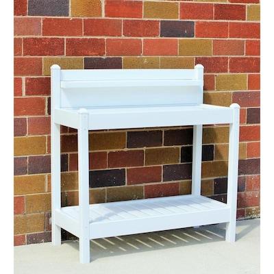 43-in x 49-in x 22-in White Potting Bench