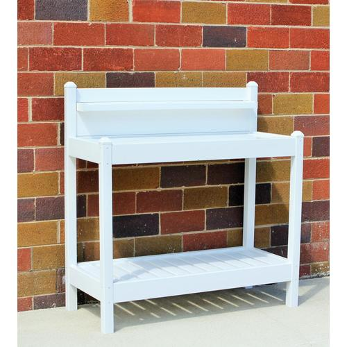 DuraTrel 43-in x 49-in x 22-in White Potting Bench at Lowes.com