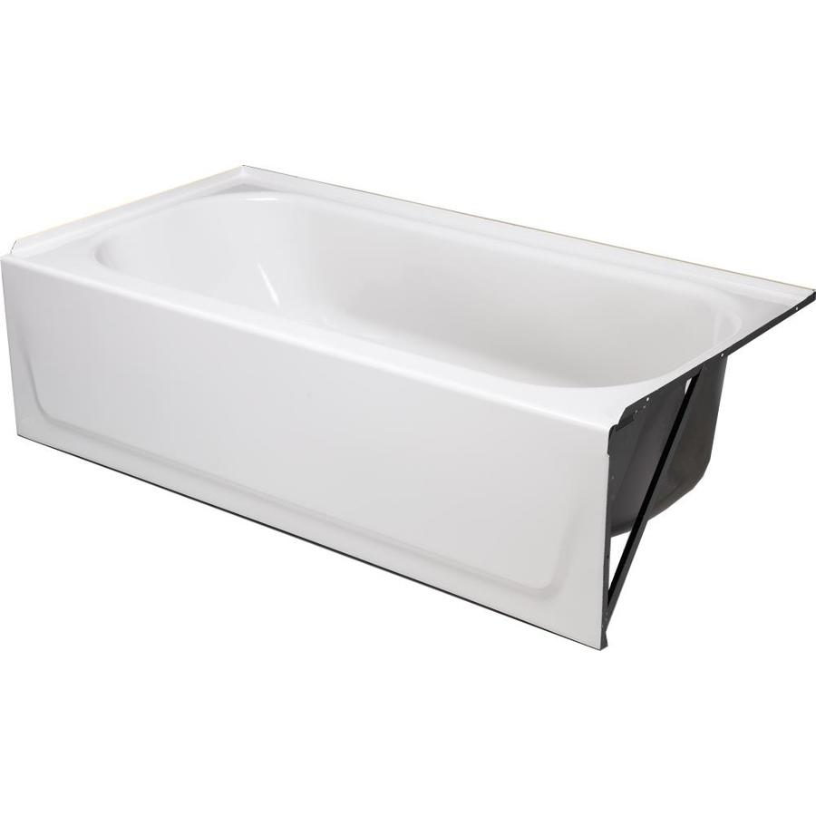 Shop Briggs Enameled Steel Rectangular Alcove Bathtub with Left-Hand ...