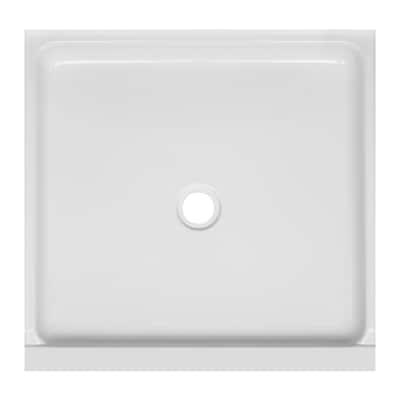 W White Acrylic Shower Floor