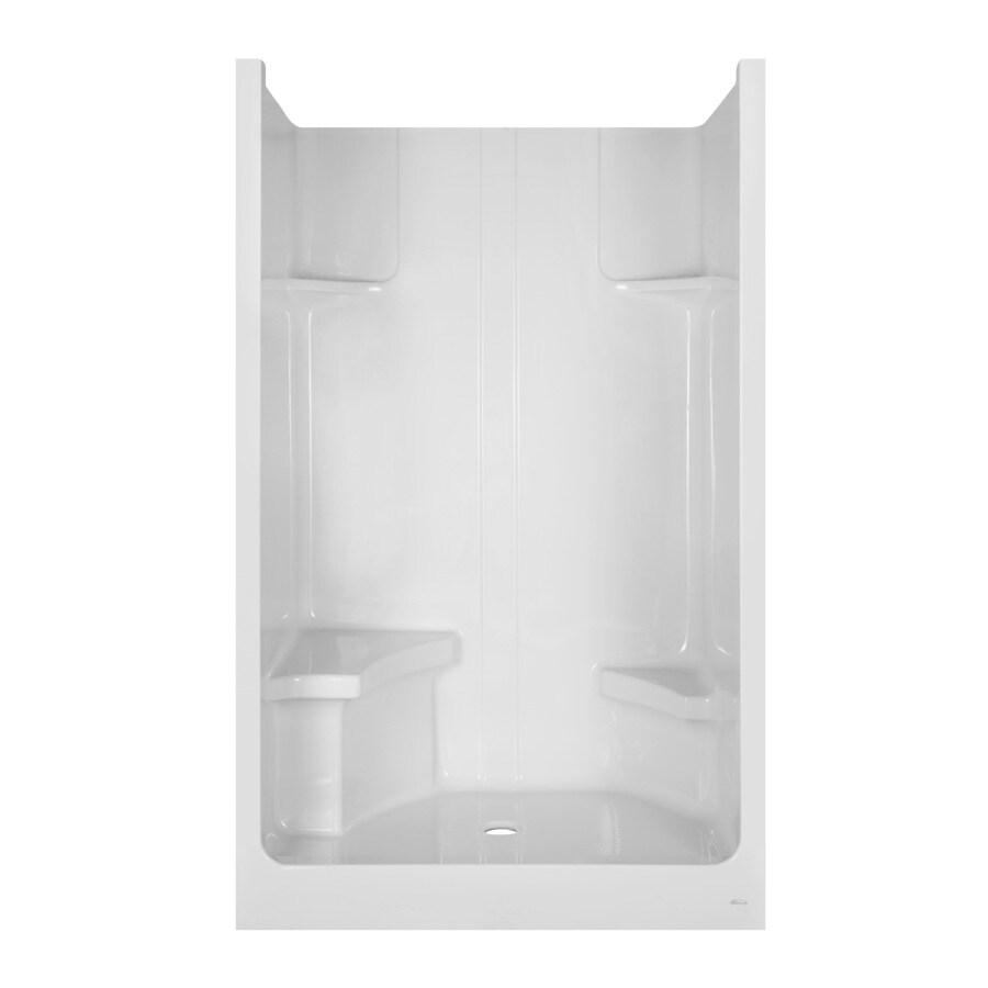 Aqua Glass 79-1/8-in H x 35-7/8-in W x 47-5/8-in L Acrylic ...