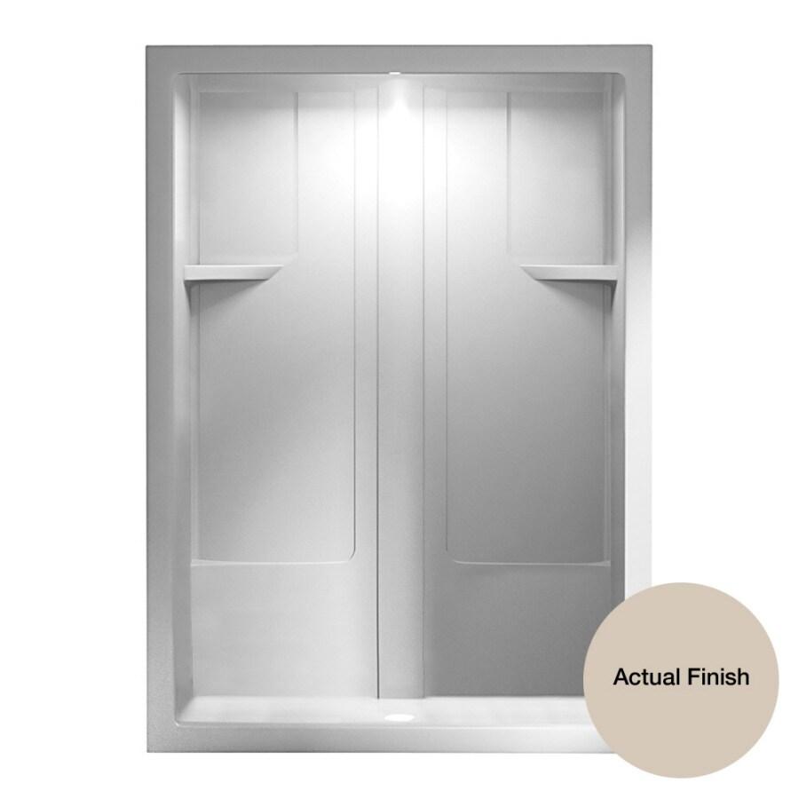 Aqua Glass 60-in H x 90-in W x 35-in L Bone 1-Piece Shower