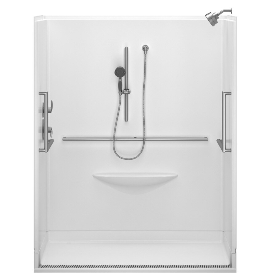 Delta Bright White Acrylic One-Piece Shower (Actual: 63-in x 39-in x 78.75-in)