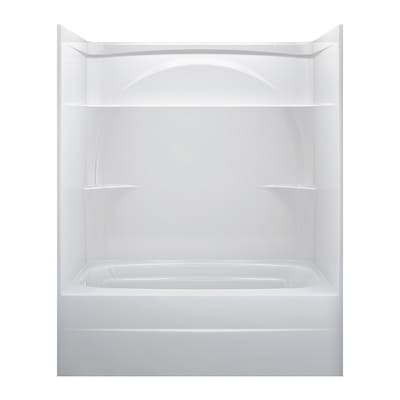 Delta White Acrylic One Piece Shower With Bathtub Common 32 In X