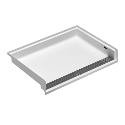 W High Gloss White Acrylic Shower Floor