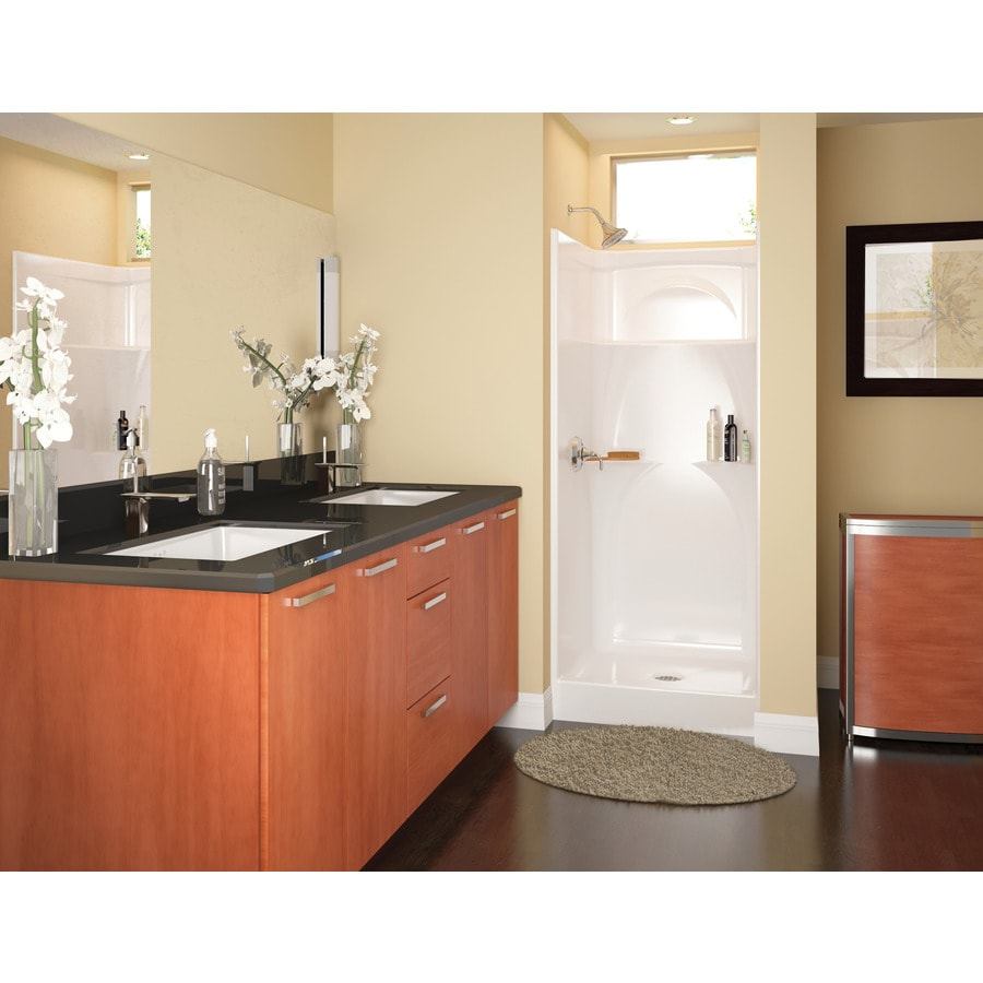 two piece shower tub unit. Delta White Acrylic One Piece Shower  Common 32 in x Shop Stalls Kits at Lowes com