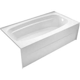 DELTA Styla 53.875-in White Acrylic Rectangular Right-Hand Drain