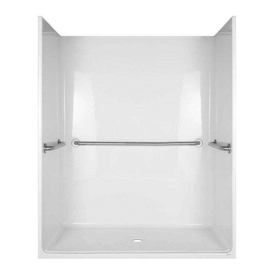 Aqua Glass 78-1/2-in H x 36-3/4-in W x 62-3/4-in L Special Care White 1-Piece Shower