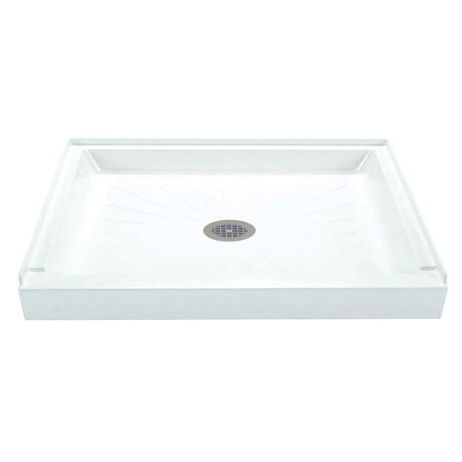 Mustee Durabase White Fiberglass Shower Base (Common: 32-in W x 48-in L; Actual: 32-in W x 48-in L)