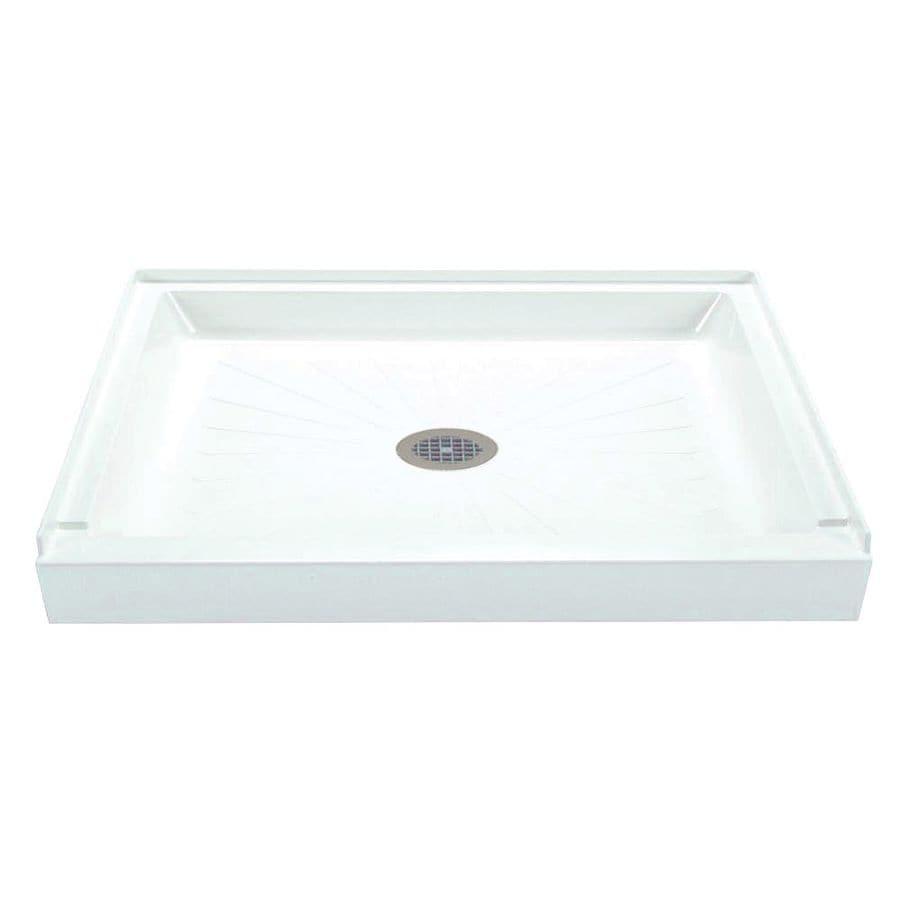 Mustee Durabase White Fiberglass Shower Base (Common: 34-in W x 48-in L; Actual: 34-in W x 48-in L)