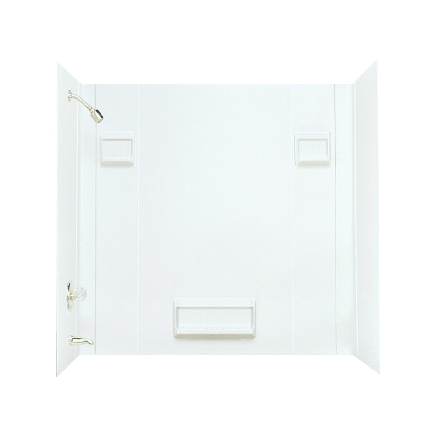 Mustee DURAWALL White Fiberglass Bathtub Wall Surround (Common: 30-in x 60-in; Actual: 58-in x 30-in x 60-in)