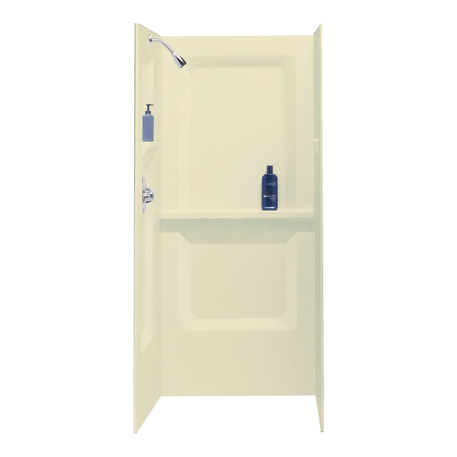 Mustee DURAWALL Bone Shower Wall Surround Side and Back Panels (Common: 36-in x 36-in; Actual: 73.25-in x 36-in x 36-in)