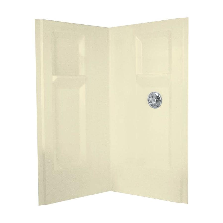Mustee DURAWALL Bone Shower Wall Surround Corner Wall Panel (Common: 36-in x 36-in; Actual: 73.25-in x 36-in x 36-in)