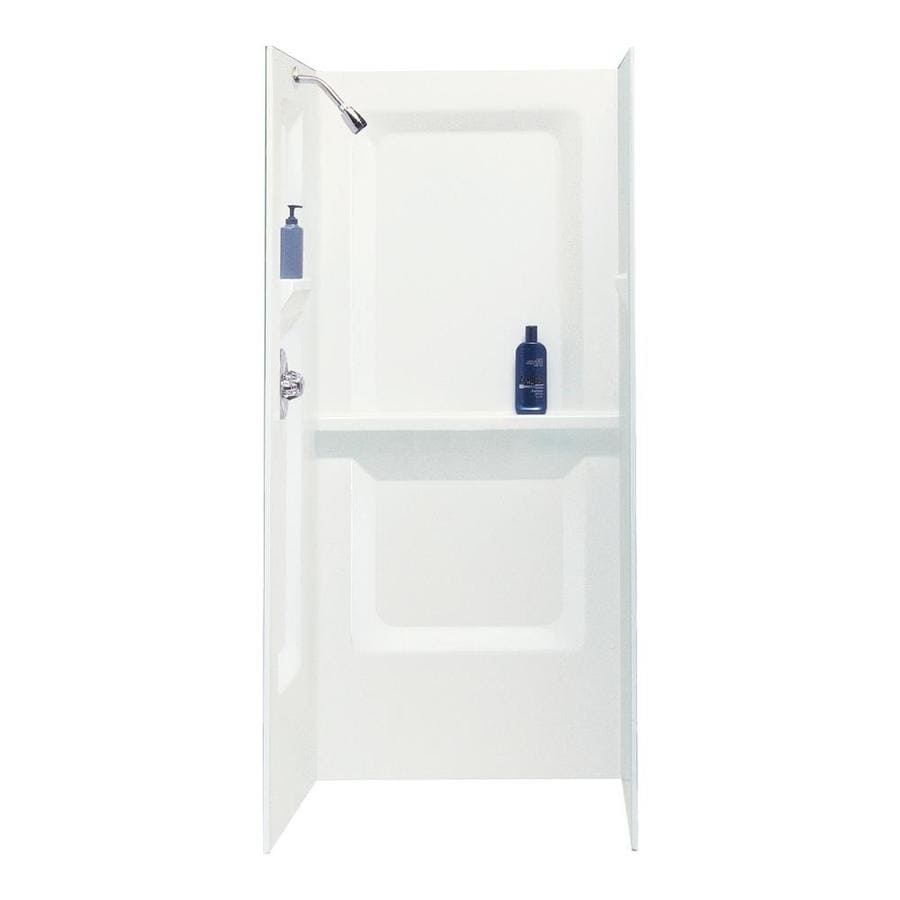 Mustee Durawall White Shower Wall Surround Side And Back Wall Kit (Common: 36-in x 36-in; Actual: 73.2500-in x 36-in x 36-in)