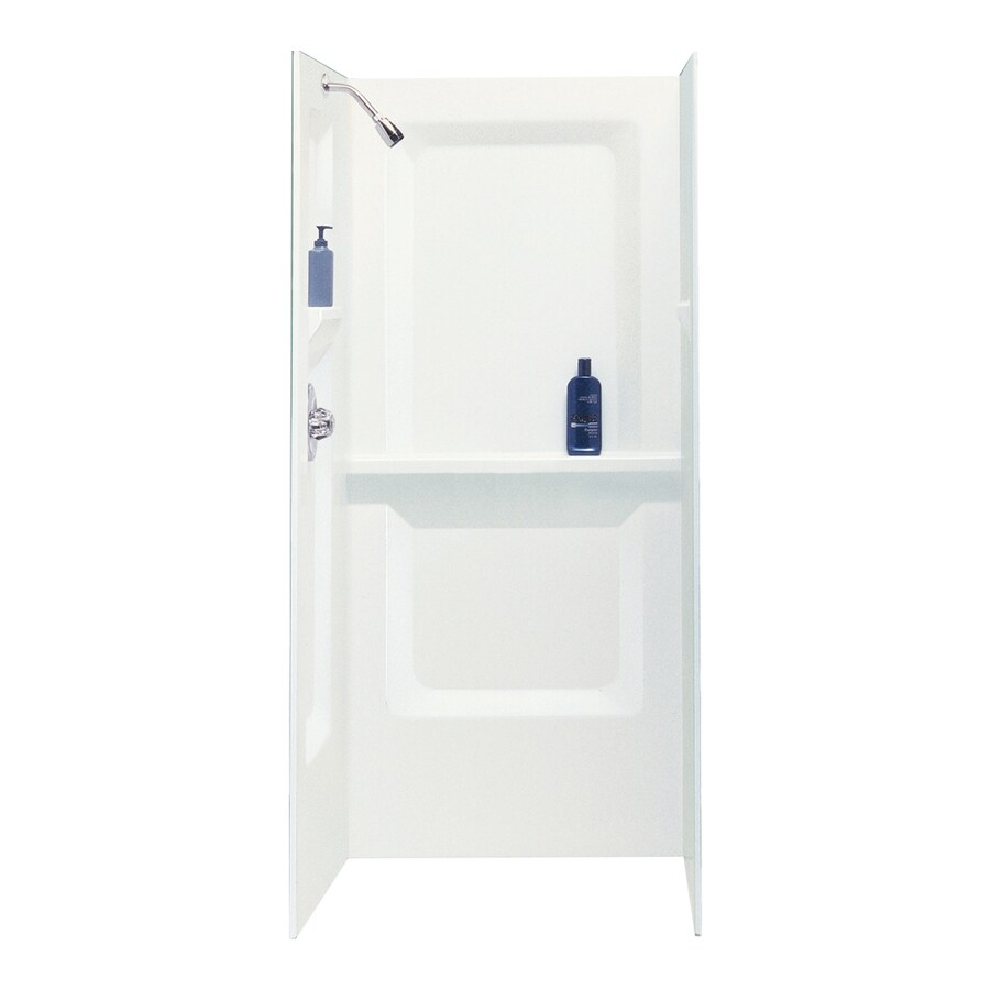 Mustee Durawall White Shower Wall Surround Side And Back Wall Kit (Common: 32-in x 32-in; Actual: 73.2500-in x 32-in x 32-in)