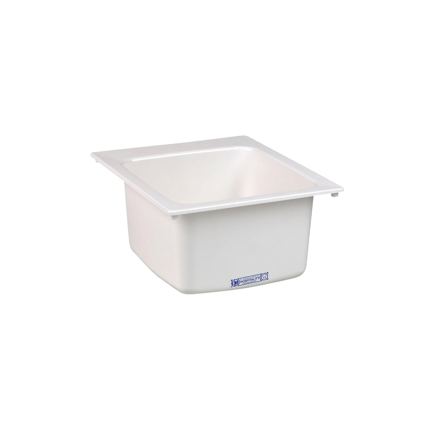 ... -in x 20-in 1-Basin White Self-Rimming Composite Laundry Utility Sink