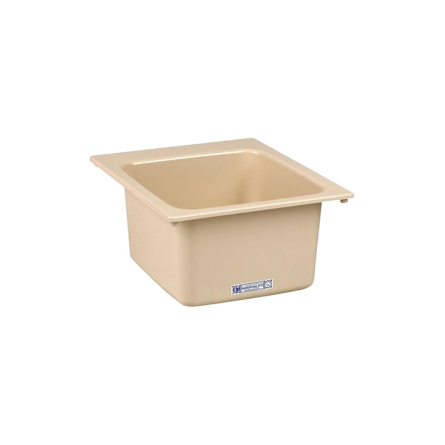 Mustee 17-in x 20-in 1-Basin Bone Self-rimming Composite Laundry Sink