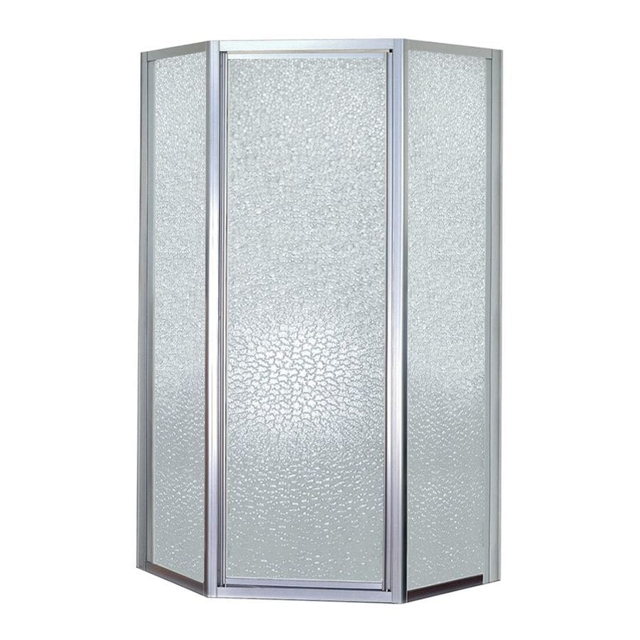 Mustee Stylemate 36 In To 36 In W Framed Hinged Chrome