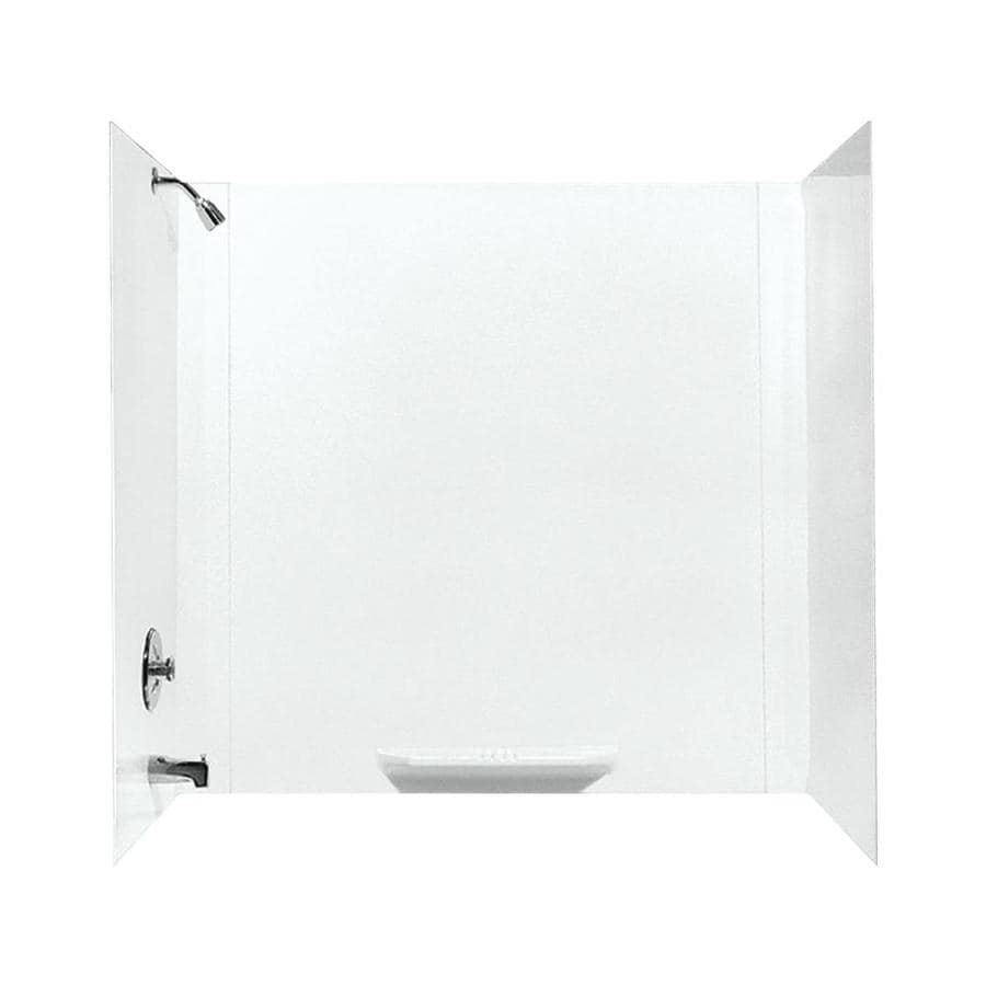 Shop Mustee DURAWALL White Fiberglass Bathtub Wall Surround (Common ...