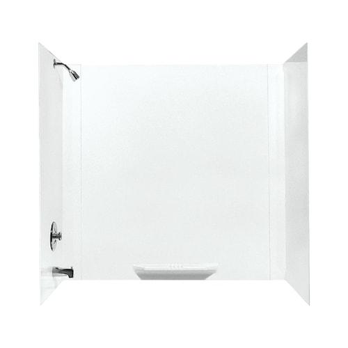 White 1 Shelf Durawall Fiberglass Bathtub Wall Kit 30 X 60 in. 3 Pieces