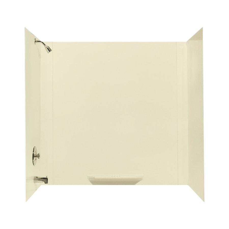 Mustee DURAWALL Bone Fiberglass Bathtub Wall Surround (Common: 30-in x 60-in; Actual: 58-in x 30-in x 60-in)