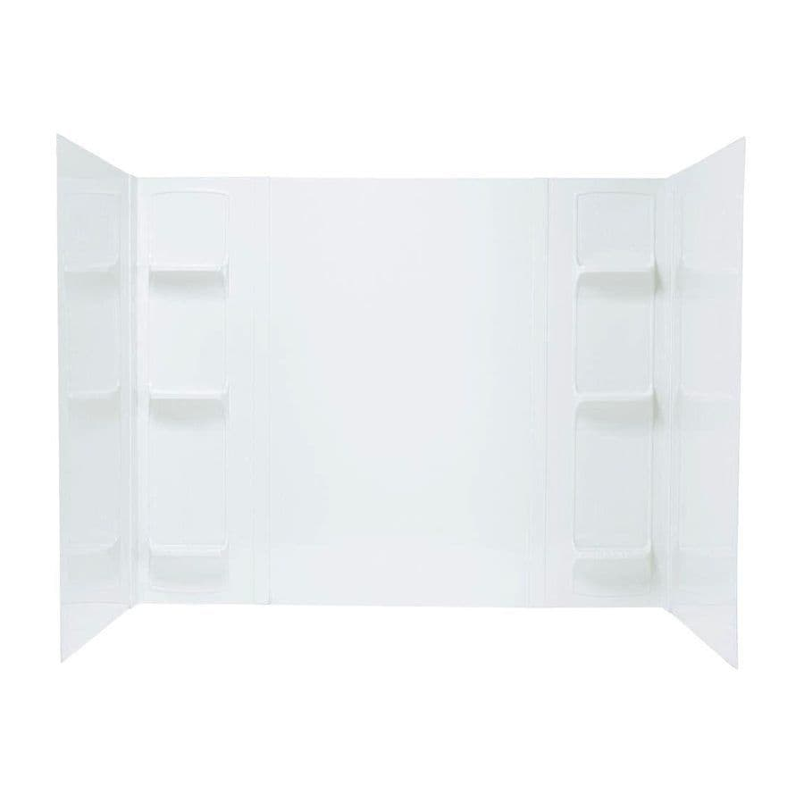 Mustee DURAWALL White Fiberglass/Plastic Composite Bathtub Wall Surround (Common: 42-in x 72-in; Actual: 58-in x 42-in x 72-in)