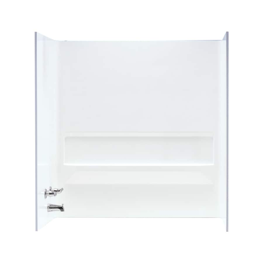 Mustee TOPAZ White Fiberglass Bathtub Wall Surround (Common: 30-in x 60-in; Actual: 61.25-in x 30-in x 60-in)