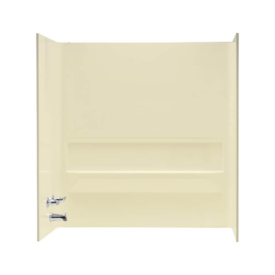 Mustee Topaz Bone Fiberglass Bathtub Wall Surround (Common: 30-in x 60-in; Actual: 61.25-in x 30-in x 60-in)