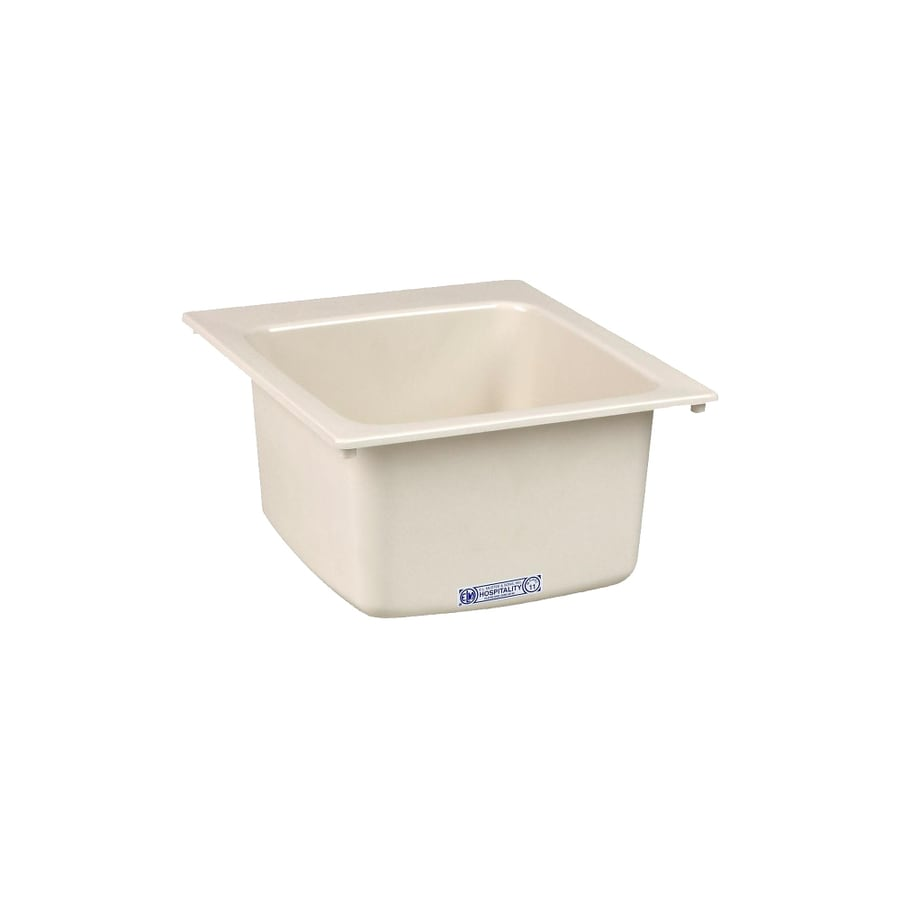 Composite Utility Sink : ... in x 20-in 1-Basin Biscuit Self-Rimming Composite Laundry Utility Sink