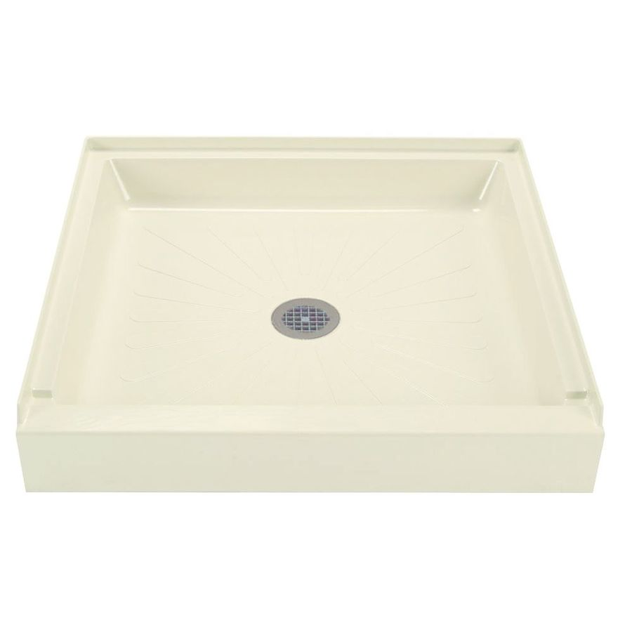 Mustee Durabase Biscuit Fiberglass Shower Base (Common: 36-in W x 36-in L; Actual: 36-in W x 36-in L)
