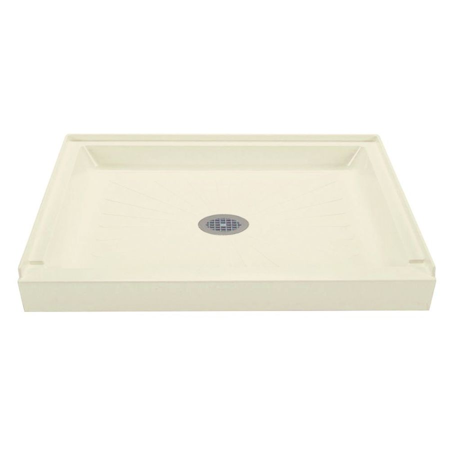 Mustee Durabase Biscuit Fiberglass Shower Base (Common: 34-in W x 48-in L; Actual: 34-in W x 48-in L)