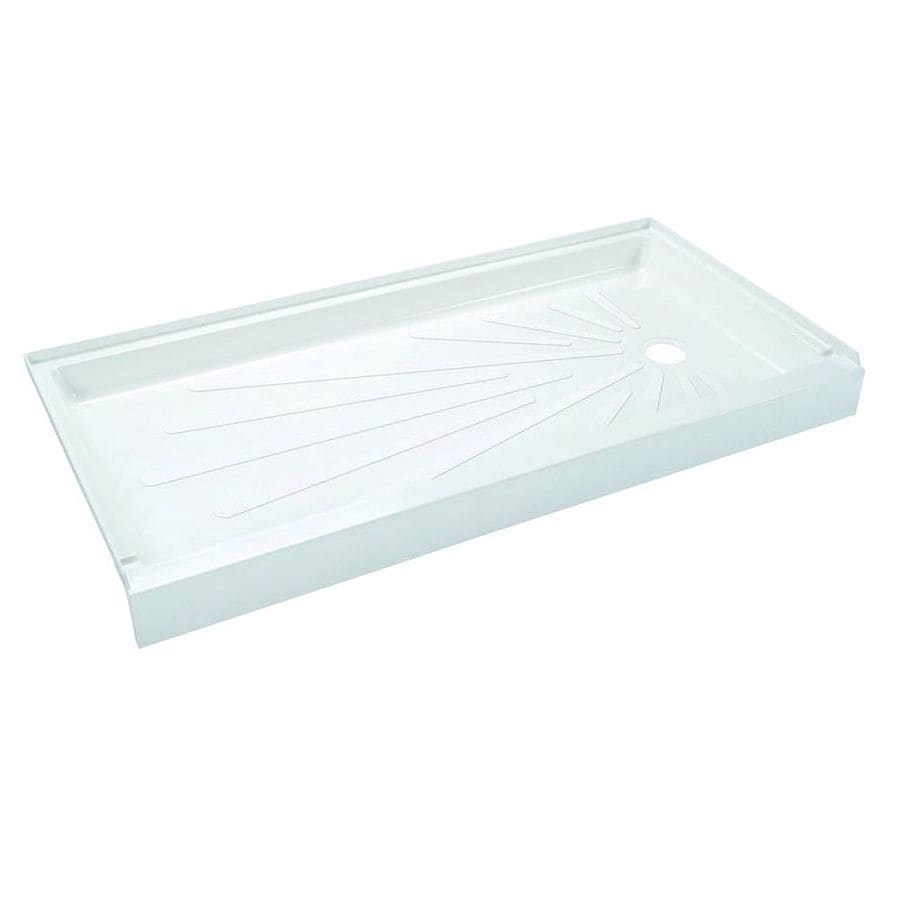 Mustee ShowerTub White Fiberglass Shower Base (Common: 30-in W x 60-in L; Actual: 30-in W x 60-in L)