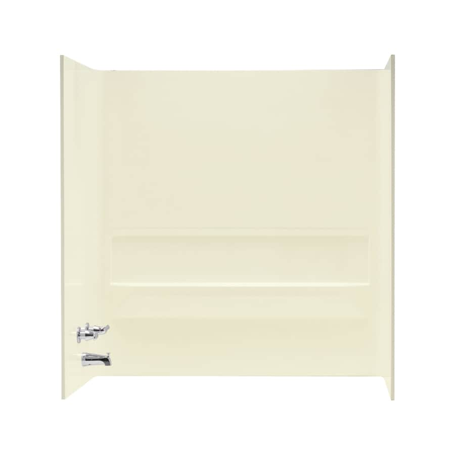 Mustee TOPAZ Biscuit Fiberglass Bathtub Wall Surround (Common: 30-in x 60-in; Actual: 61.25-in x 30-in x 60-in)