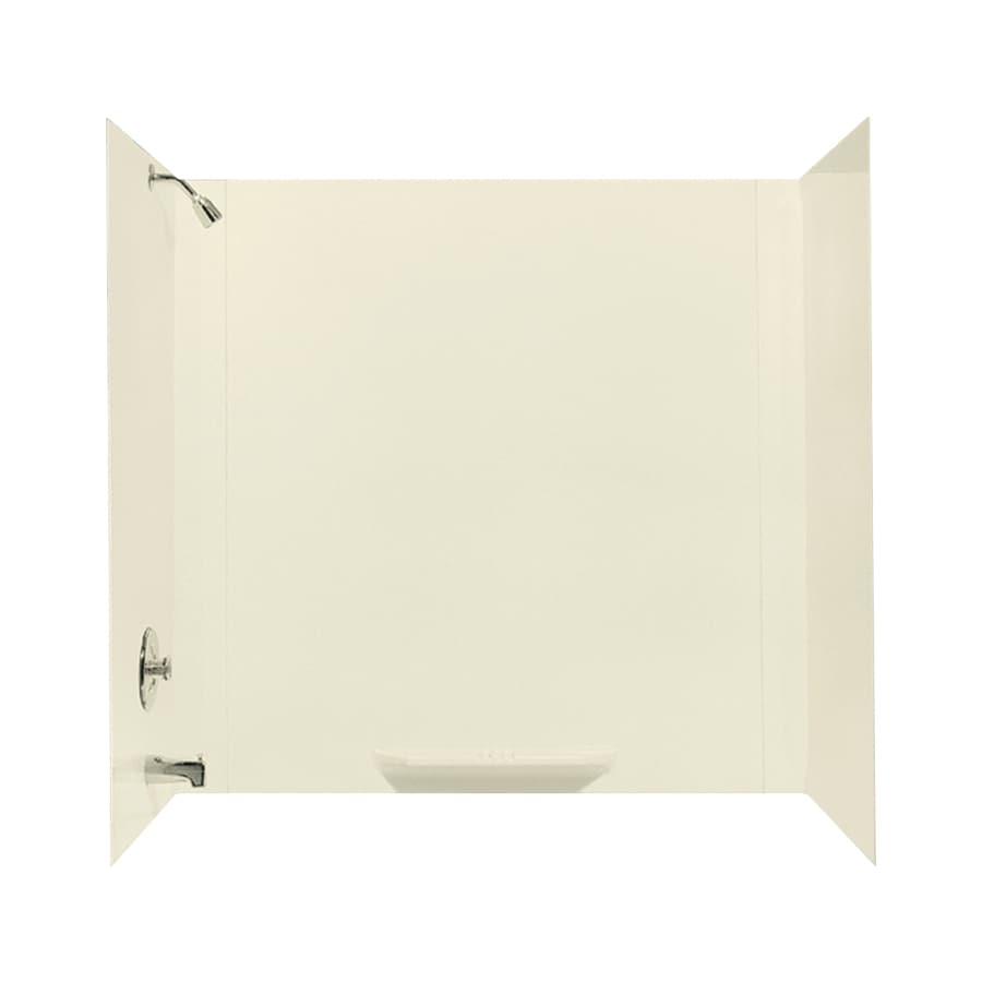 Mustee DURAWALL Biscuit Fiberglass Bathtub Wall Surround (Common: 30-in x 60-in; Actual: 58-in x 30-in x 60-in)