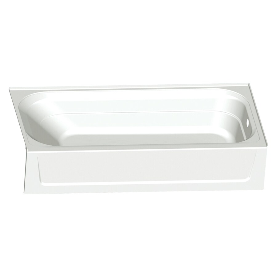 Mustee TOPAZ White Fiberglass Rectangular Alcove Bathtub with Right-Hand Drain (Common: 30-in x 60-in; Actual: 15.75-in x 30-in x 60-in)