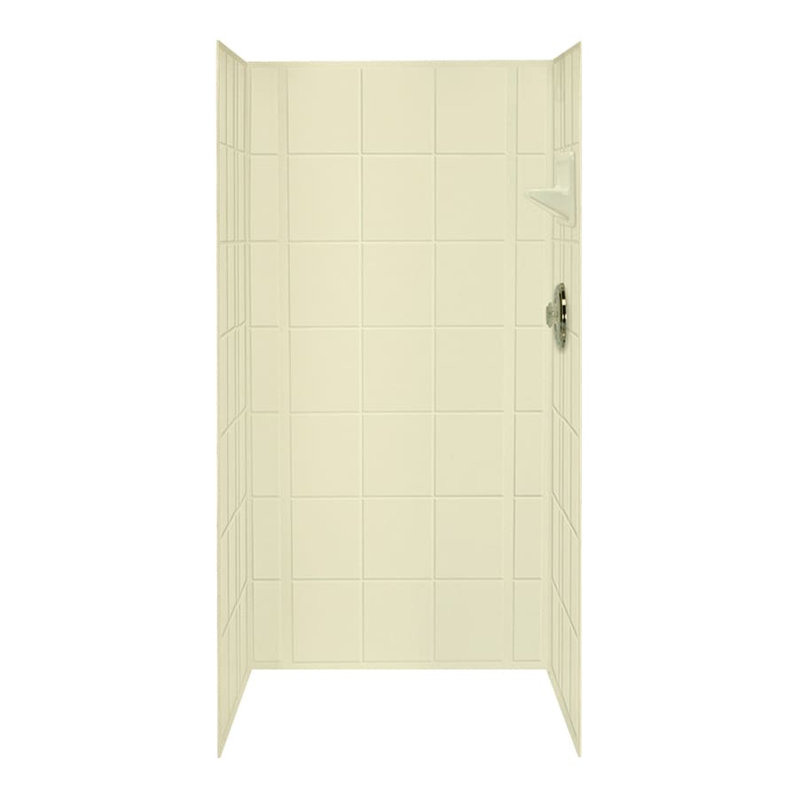 Mustee VARISTONE Bone Shower Wall Surround Side and Back Panels (Common: 60-in x 34-in; Actual: 72-in x 60-in x 34-in)