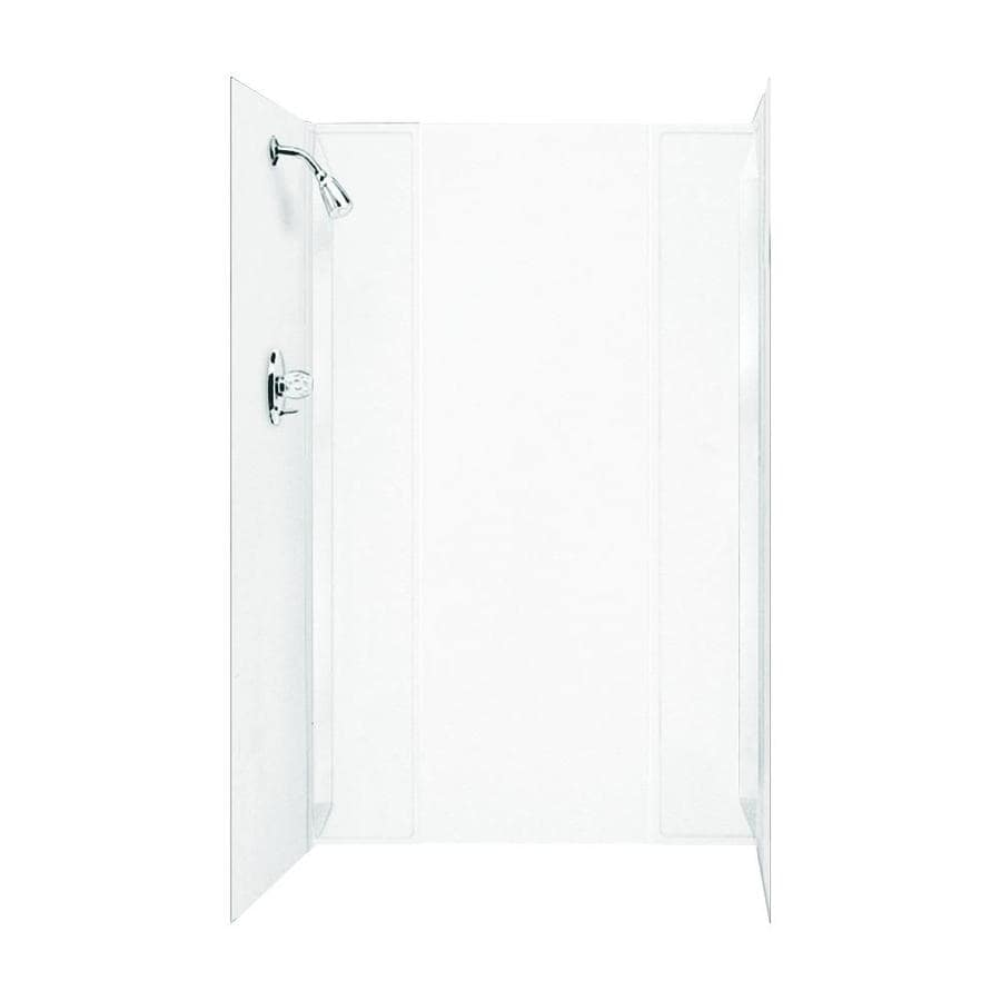 Mustee DURAWALL White Shower Wall Surround Side and Back Panels (Common: 71-in x 40-in; Actual: 71.5-in x 71-in x 41.5-in)
