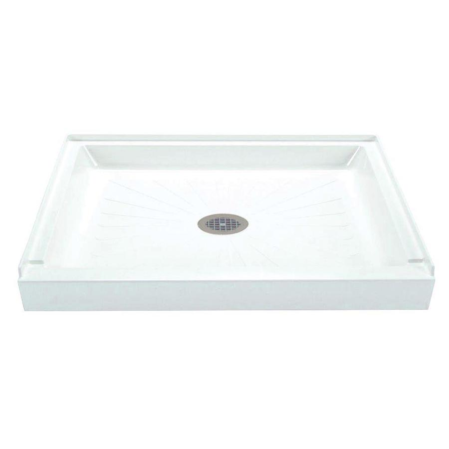 Mustee Durabase White Fiberglass Shower Base (Common: 36-in W x 48-in L; Actual: 36-in W x 48-in L)