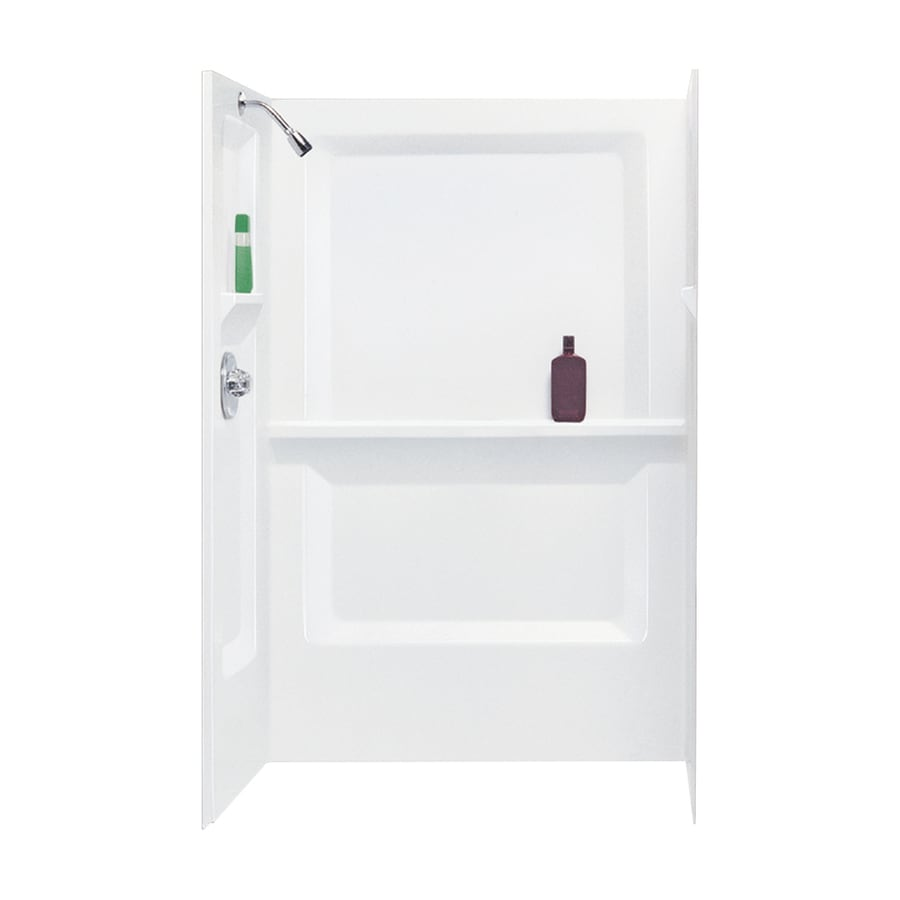 Mustee SOS Mustee 748-32WHT 73.25-in H x 32-in L x 48-in W Side And Back Walls in White