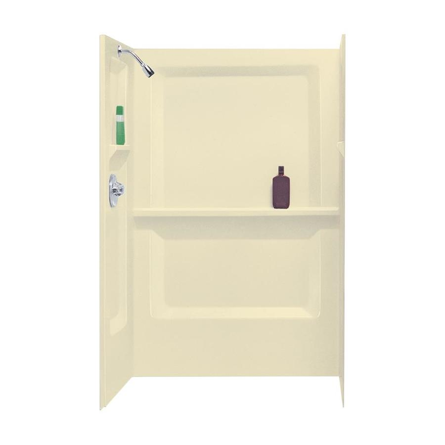Mustee DURAWALL Bone Shower Wall Surround Side and Back Panels (Common: 48-in x 32-in; Actual: 73.25-in x 48-in x 32-in)