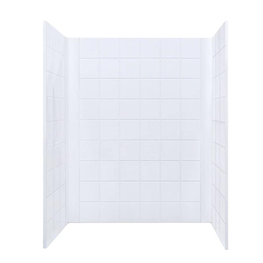 Mustee DURAWALL White Shower Wall Surround Side and Back Panels (Common: 60-in x 30-in; Actual: 73.25-in x 60-in x 30-in)