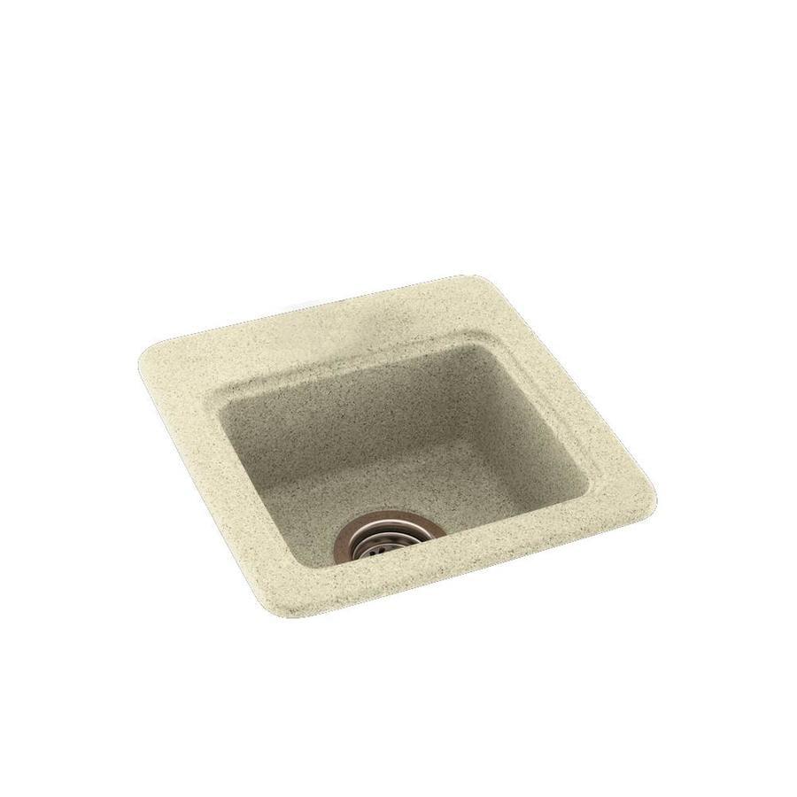 Shop Swanstone Bone Single Basin 1 Hole Composite Drop In