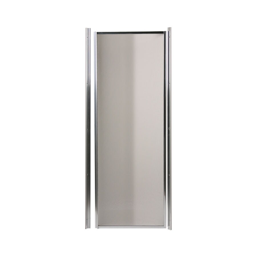 shop swanstone 24 in to 24 in polished chrome framed pivot shower door at. Black Bedroom Furniture Sets. Home Design Ideas