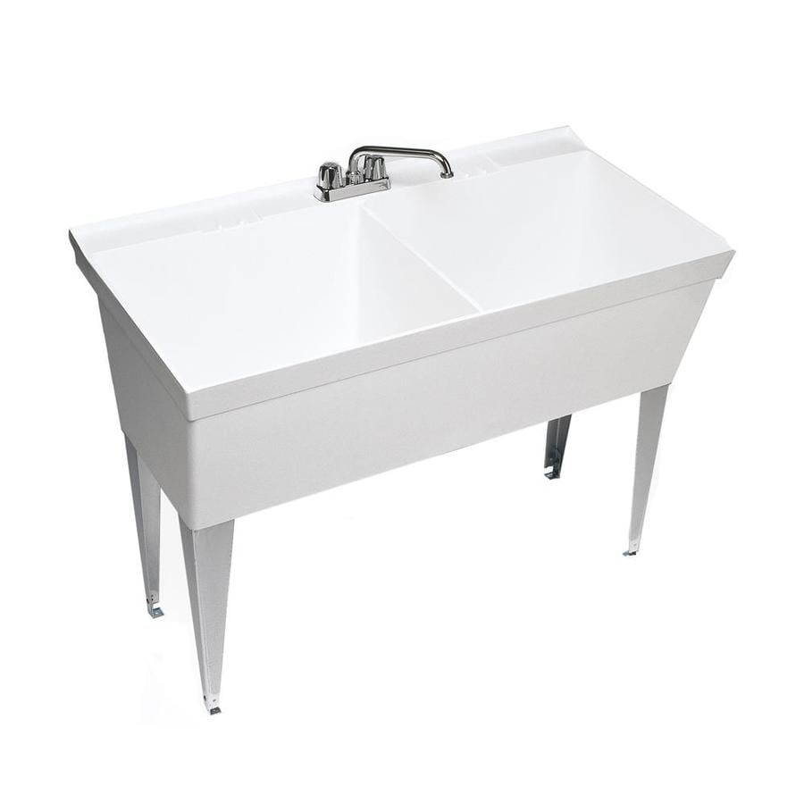 Shop Swanstone White Composite Laundry Sink at Lowes.com